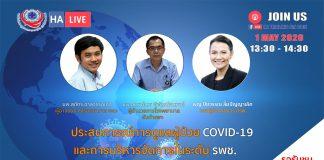 ประสบการณ์การดูแลผู้ป่วย COVID-19 และการบริหารจัดการในระดับโรงพยาบาลชุมชน